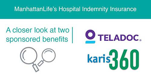 hospital indemnity insurance with karis360 and teladoc