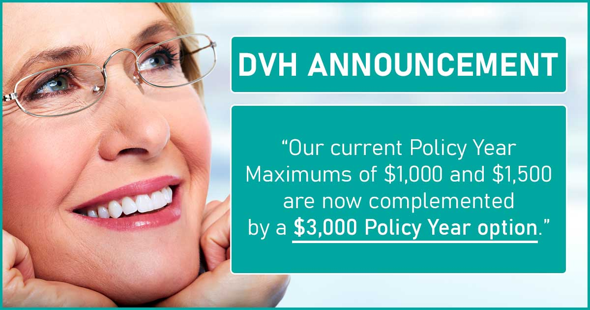 introducing the $3,000 policy year maximum for DVH