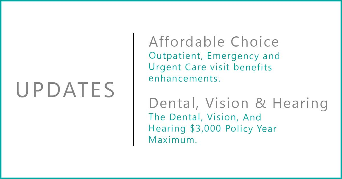 affordable choice and dental vision hearing update
