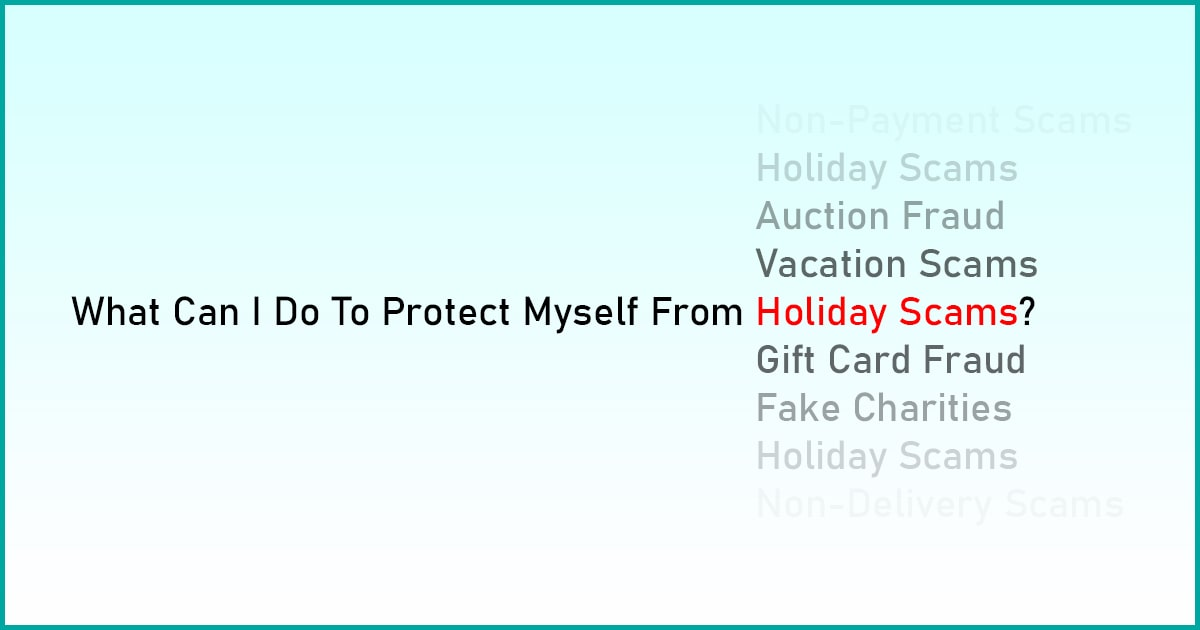 holiday scams and fraud