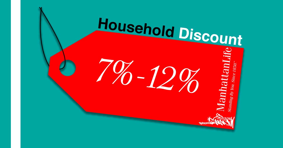 medicare supplement household discount on a sales tag