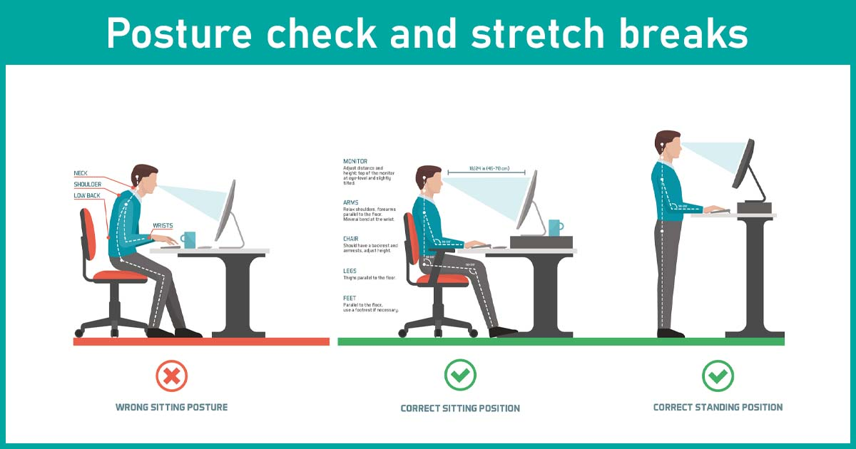 posture check and stretch break
