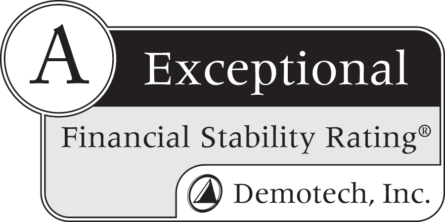 Financial Stability Rating of A, Exceptional